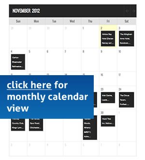 image link to monthly calendar view of Jimmy Buckly live events